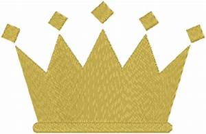 Simple Crown Embroidery Design