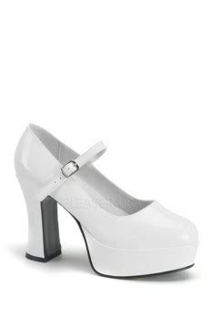 white peep toe pump heels patent faux leather