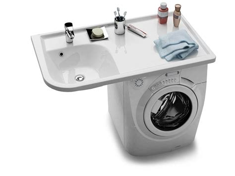 waschmaschine waschbecken kombination wohndesign ideen