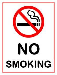 No Smoking Sign Template Word