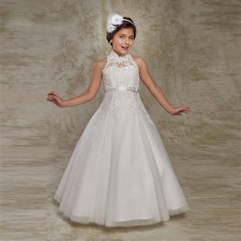 white puffy flower girl dresses  communion dresses