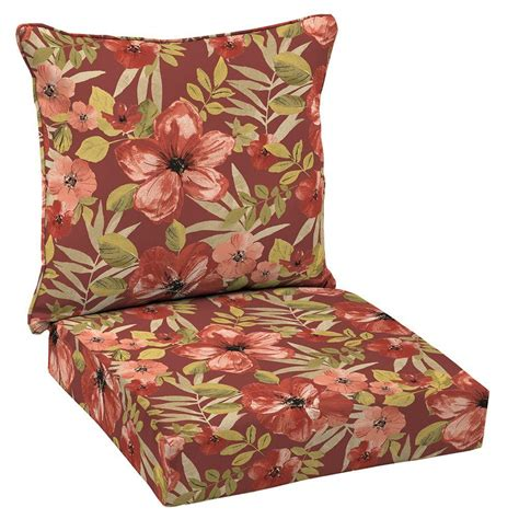 coussin pour chaise patio hton bay chili tropical blossom welted 2