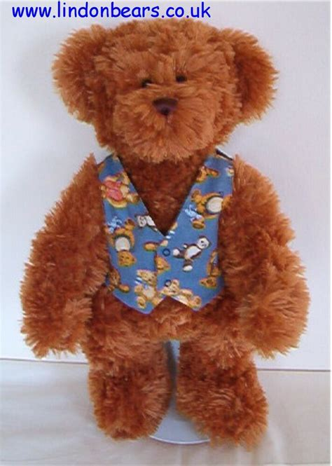 New Lindon Jointed Teddy Bear  Pattern Waistcoatstand  Price £36 On Offer £21 Ebay