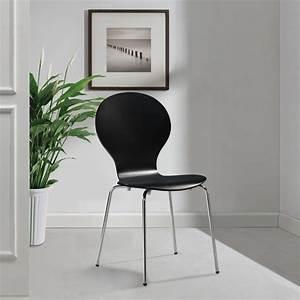 Küchen Und Esszimmerstühle : 2 stapelbare esszimmerst hle schmetterlings design schwarz ~ Watch28wear.com Haus und Dekorationen