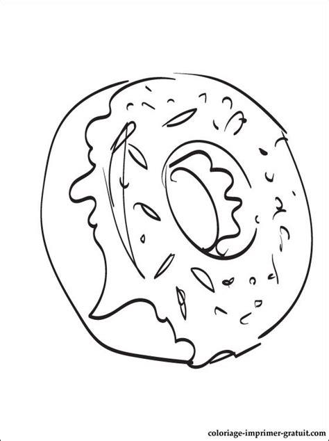 coloriage donut  colorier coloriage  imprimer gratuit