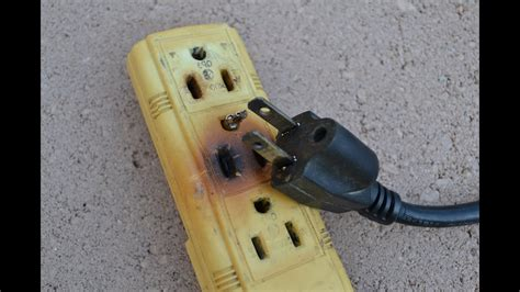 fix  burnt broken electrical cord wire plug