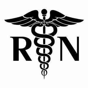Registered Nurse Sticker   Medical Stickers   Health Decals