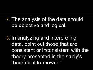 Presentation, analysis and interpretation of data