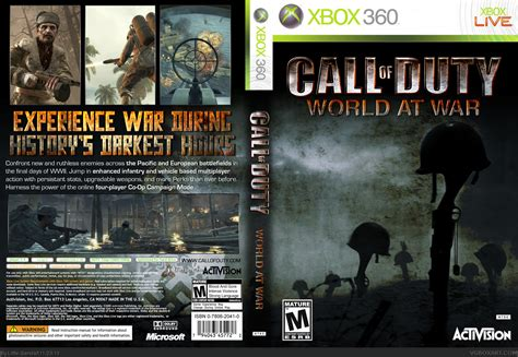 World At War Xbox 360 Box Art Cover By