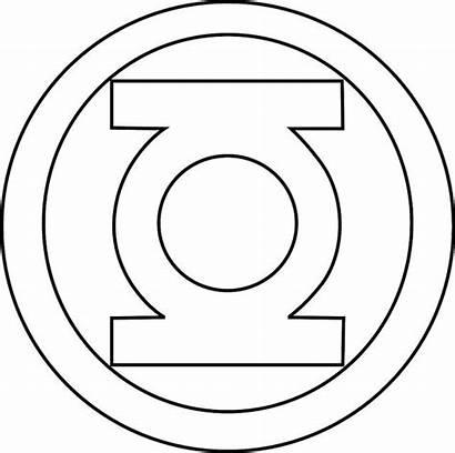 Superhero Coloring Lantern Logos Pages Template Symbols
