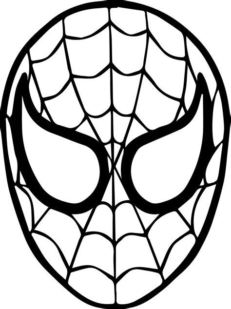 Spider Man Mask Face Coloring Page Wecoloringpagecom