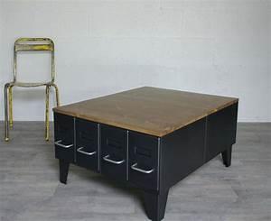 Table Basse Style Industriel : table basse style industriel but maison ~ Melissatoandfro.com Idées de Décoration