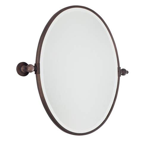 Tilting Bathroom Mirror Chrome by Oval Tilt Bathroom Mirror Available In 2 Colors Chrome