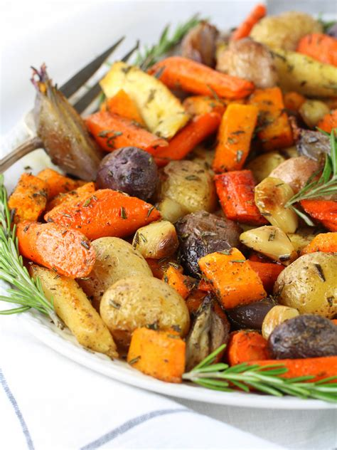 Roasted Fall Vegetables With Rosemary  Taste And See