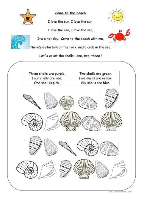 At The Beach Worksheet  Free Esl Printable Worksheets Made By Teachers