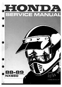 1 Service Manual  Pdf Honda Nx650 Dominator 88