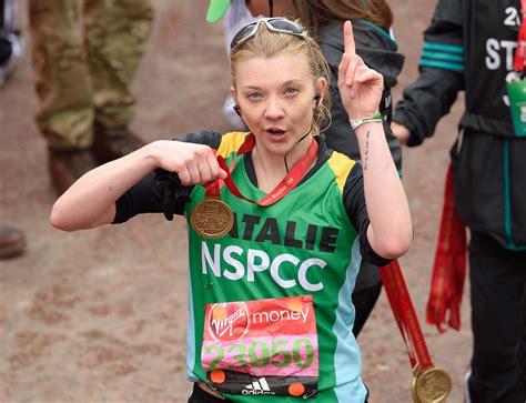 natalie dormer marathon la caridad en el marat 243 n de londres wangconnection