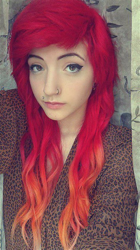 Red Ombre Hair Dyed Hair Red Pinterest What I Want