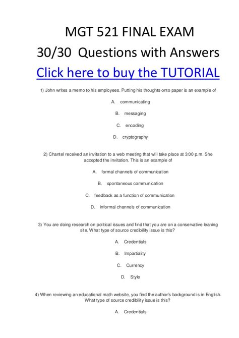 Mgt 521 Final Exam 30#questions With Answers Correct 100