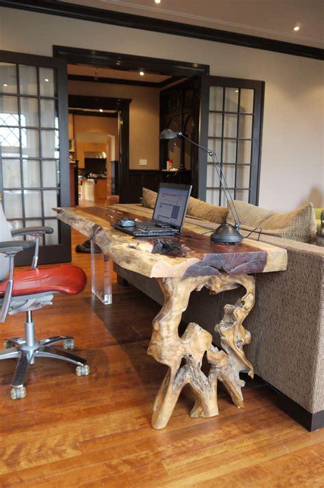 bureau en bois exotique design