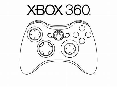 Xbox Coloring Controller Pages Clipart Deviantart Pad