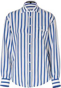 Ralph Lauren Black Label Striped Silk Shirt In Off ...