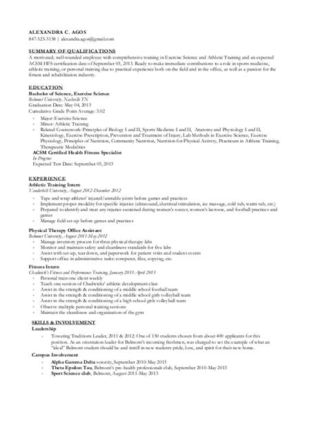 Exercise Science Resume by Professional Resume