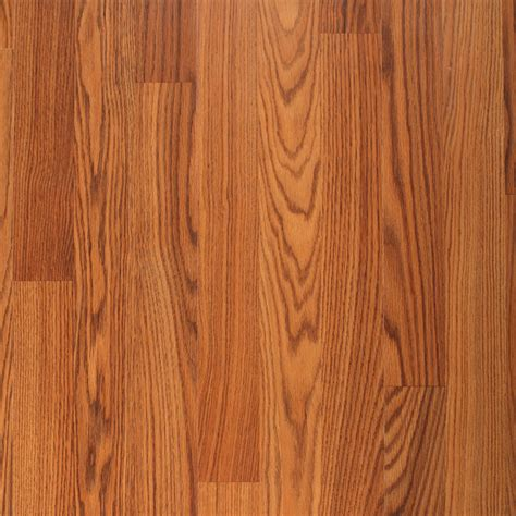 laminate wood flooring oak shop project source 8 07 in w x 47 64 in l amber oak smooth laminate wood planks at lowes com