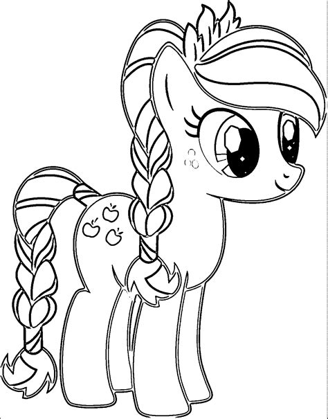 My Little Pony Applejack Coloring Pages Az Coloring Pages