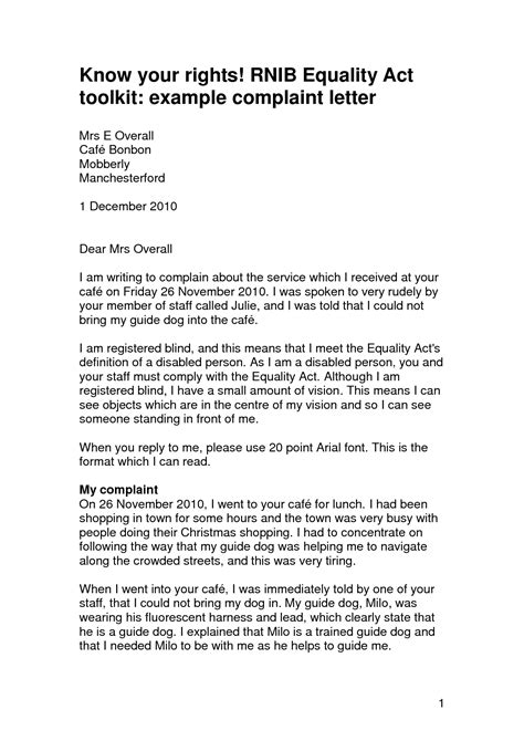 Best Photos of Sample Complaint Letter Against Employee