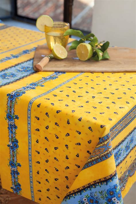 tradition yellow  rectangle cotton french provence