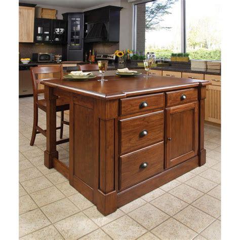 aspen kitchen island home styles aspen kitchen island two stools in rustic