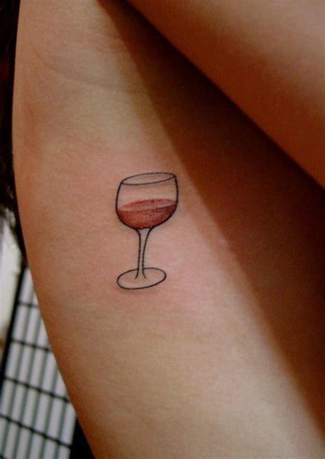 glass  wine  tattoo design ideas