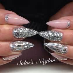 Top gorgeous glitter acrylic nails