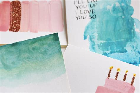 Maybe you would like to learn more about one of these? DIY watercolor cards with calligraphy and glitter — The Pastiche