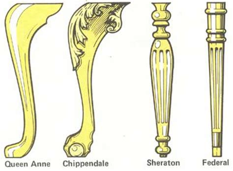 types of chair legs furniture styles how to identify antique wooden