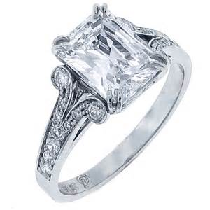 radiant cut engagement ring radiant cut engagement ring set in platinum