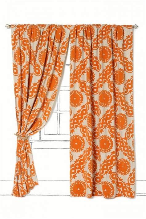 anthropologie orange curtains home decor