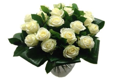bos bloemen crematie rouwboeket witte avalanche rozen begrafenis crematie