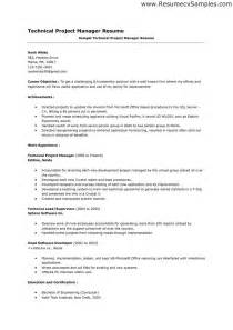 program manager resume objective project management resume objective the best letter sle