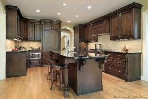 traditional kitchen island pictures of kitchens traditional wood kitchens walnut color page 3