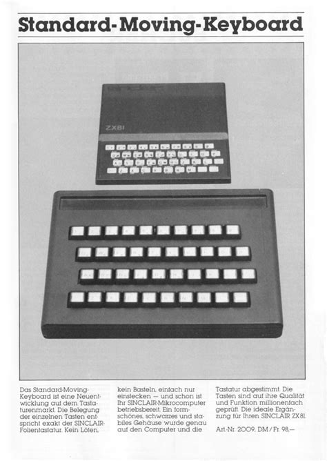 """""""DS"""" Standard Moving Keyboard for ZX81"""