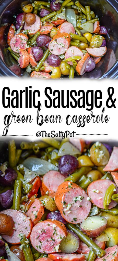 slow cooker sausage casserole  green beans  potatoes