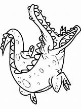 Crocodile Coloring Pages Alligator Baby Cute Animals Printable Drawing Colorings Getcolorings Sheet Print Clipartmag Getdrawings sketch template