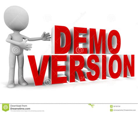 Demo Version Stock Illustration. Illustration Of Trial