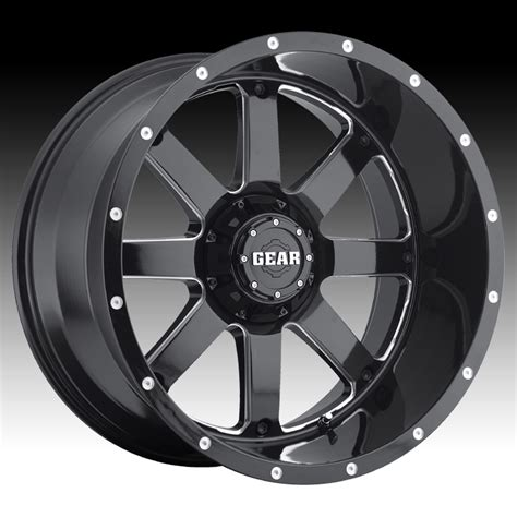 gear alloy 726mb big block gloss black milled 20x10 8x170 19mm 726mb 2108719 ebay