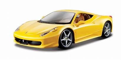 Ferrari Yellow 458 Italia Bburago Toy Galben