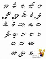 Cursive Alphabet Coloring Pages Letters Chart Lowercase Yescoloring Printable Bubble Sheets Individual Lettering Handwriting Graffiti Letter Grade Script Alphabets Easy sketch template