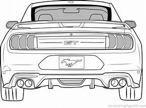 Ford Mustang GT - 2018 - Rear View Coloring Page - Free 2018 Ford Mustang GT Coloring Pages ...