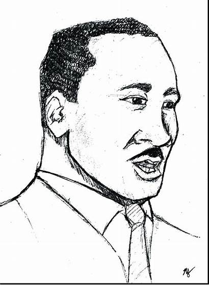 Luther Martin Drawing King Jr Coloring Worksheets